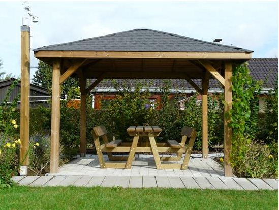 wooden gazebo you can efficiently preserve the innate beauty of the wood by employing a  water-repellent sealer on ZOWECDW