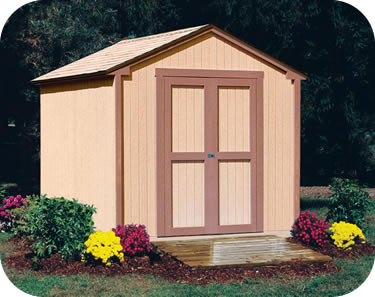 wooden sheds handy home kingston 8x8 wood storage shed kit YMADVXB