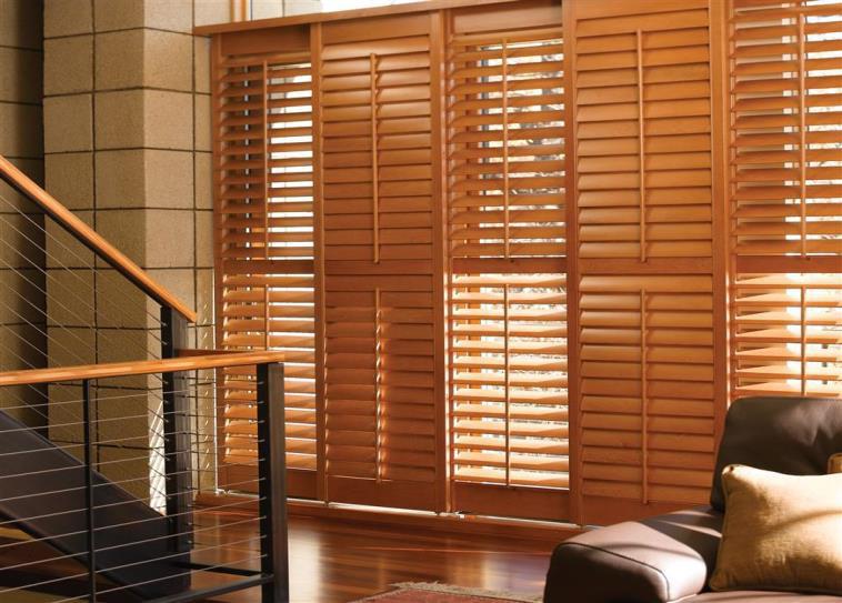 wooden shutters budget blinds natural hardwood shutters. north american wood shutters VYHDQUX