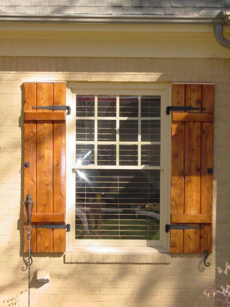 wooden shutters cedar shutters - google search RBLRAMT