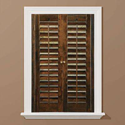 wooden shutters plantation walnut real wood interior shutter (price varies by size) SRIEZLD