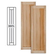 wooden shutters wood v-groove shutters ... MGPJJDC