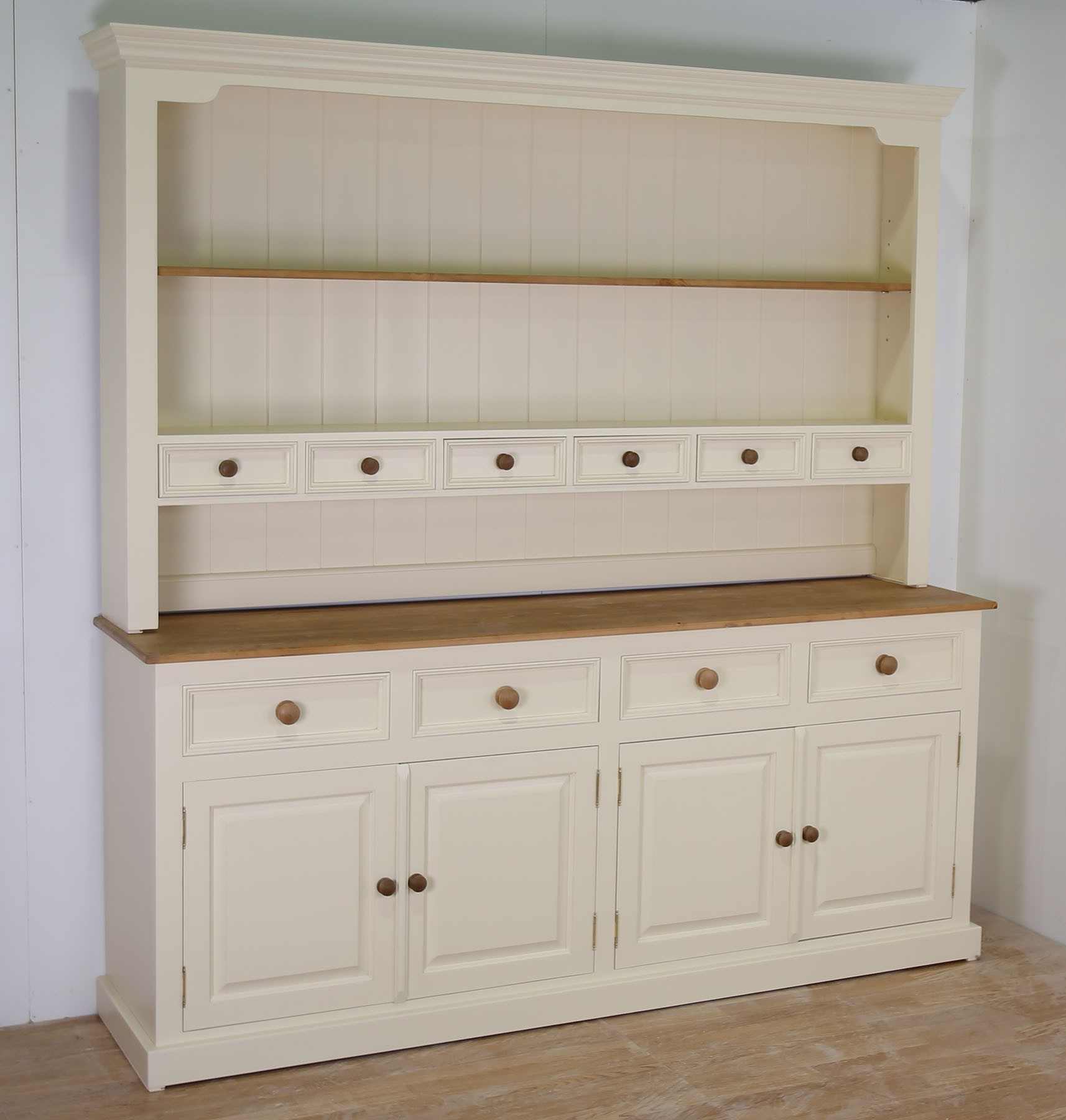 ... mottisfont solid pine painted large 4 door welsh dresser in 4 sizes VBZQAUM