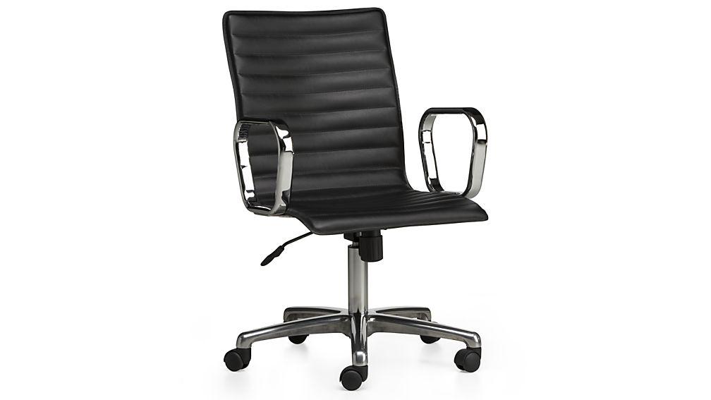 ... ripple black leather office chair ... BLFMGQS