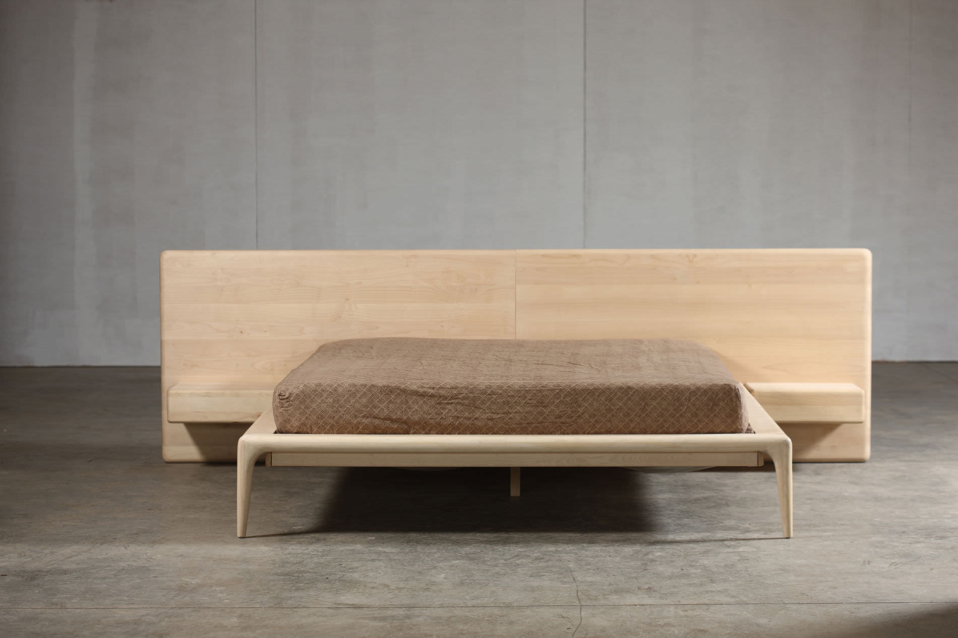 ... solid wood furniture double bed / contemporary / elm / maple - PBMSSGV