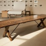 Order a trestle table for your house or farm house & give it an antique look