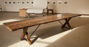 12u0027 trestle table all stained dark walnut (distressed) -- 4 optional wire DGWOWYG