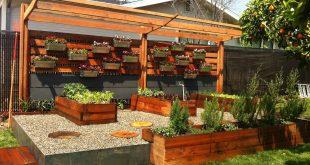 17 low maintenance landscaping ideas - chris and peyton lambton backyard  design HGXJXAX
