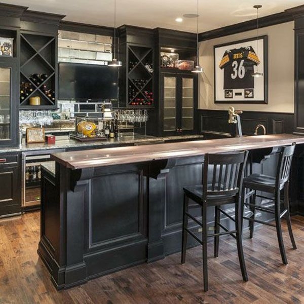 25 cool and masculine basement bar ideas UWCGVXN