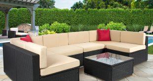 4pc outdoor patio garden furniture wicker rattan sofa set black -  walmart.com SIXSSSI