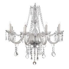 8-light crystal chandelier - chandeliers DRHSDTV