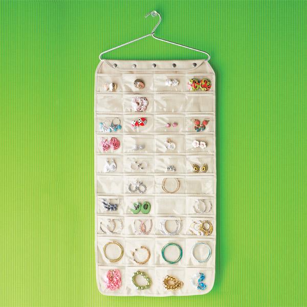 80-pocket canvas hanging jewelry organizer QFVKXBL