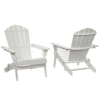 adirondack chairs lattice folding white outdoor adirondack chair (2-pack) UBERPZY