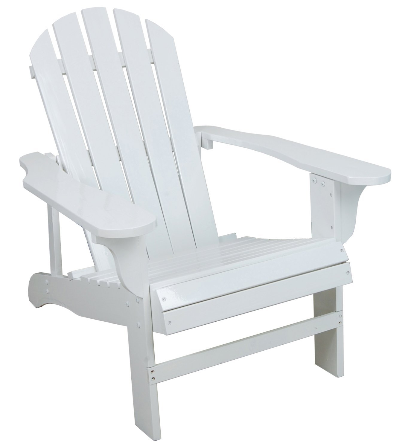 amazon.com : classic white painted wood adirondack chair : chaise lounges  cushions WHUIXMM