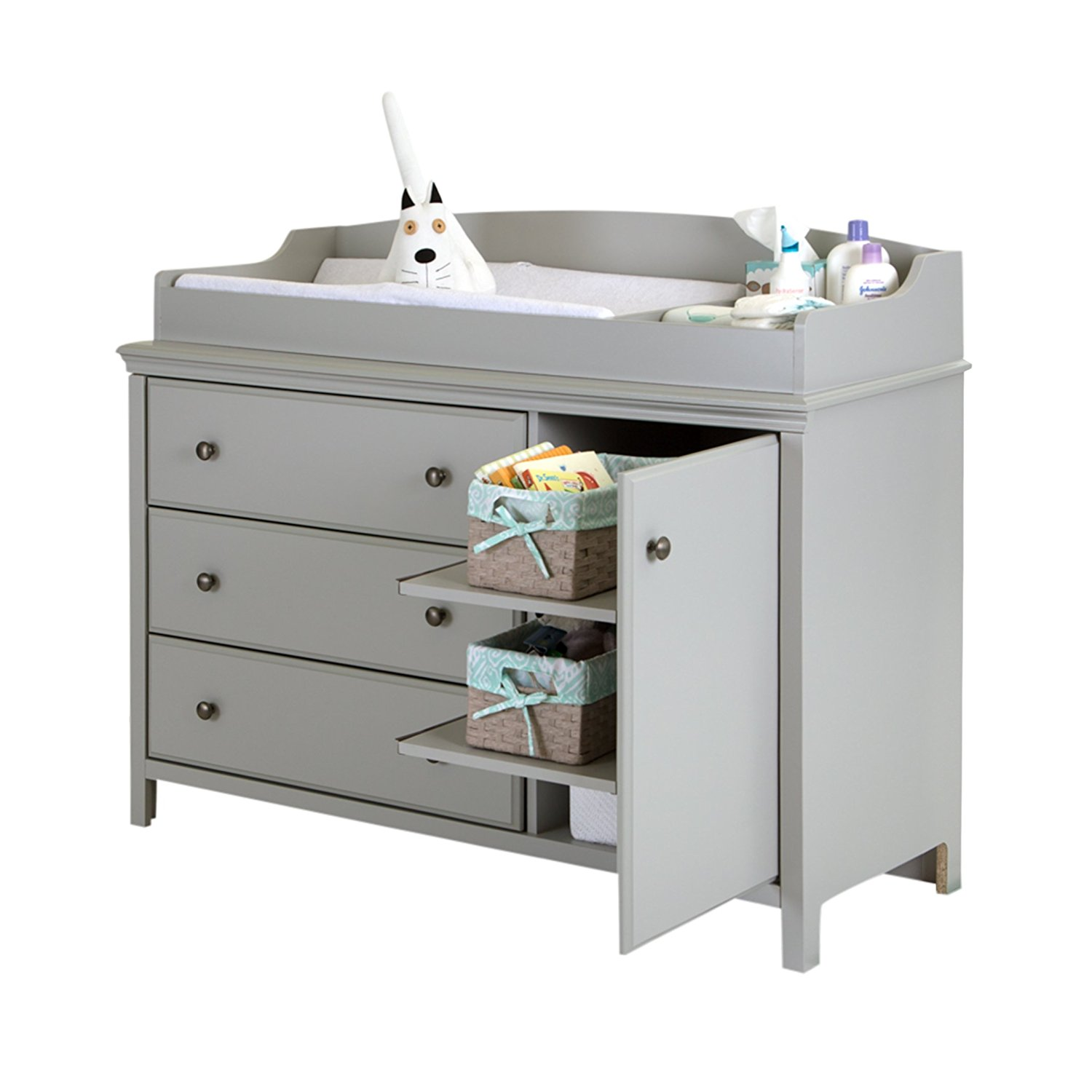 amazon.com : south shore cotton candy changing table with removable changing  station, YMZLVON