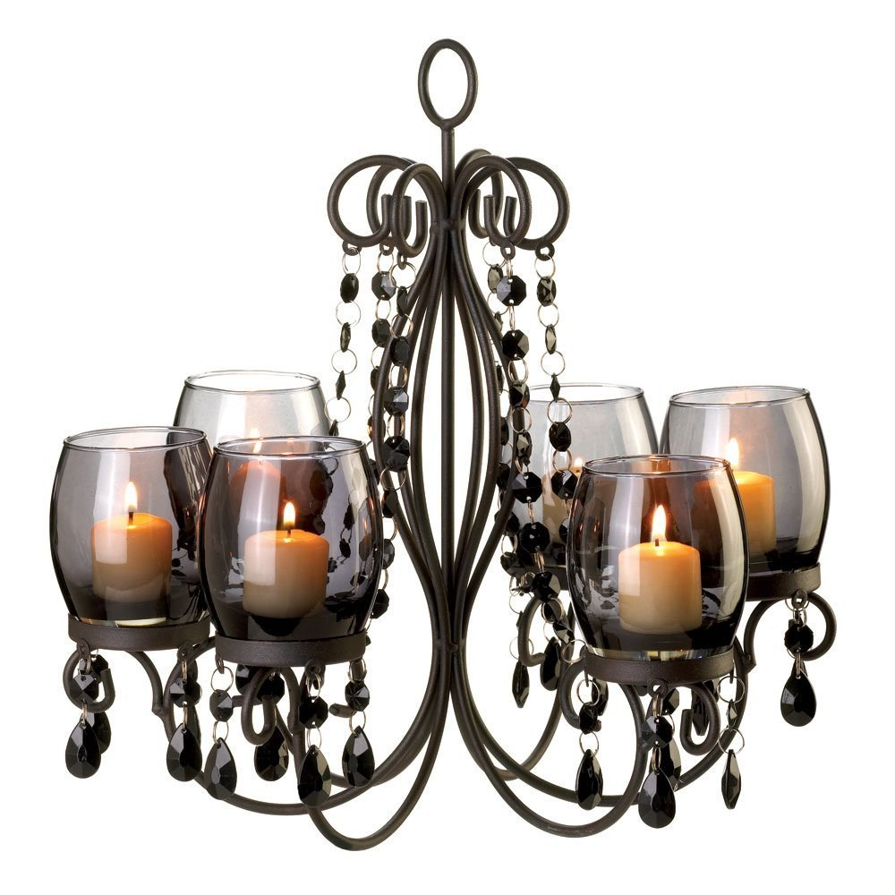 amazon.com: verdugo gift midnight elegance candle chandelier: home u0026 kitchen ROCNJPW