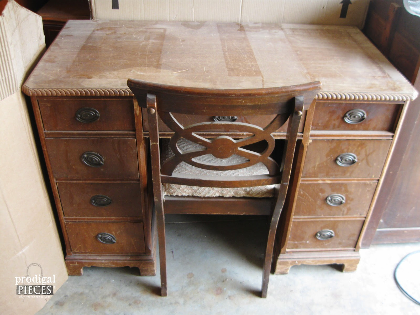 an antique desk makeover by prodigal pieces www.prodigalpieces.com  #prodigalpieces TSETBOJ