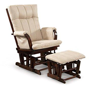 artiva usa home deluxe mocha microfiber cushion cherry wood glider chair  and AYLPSHA