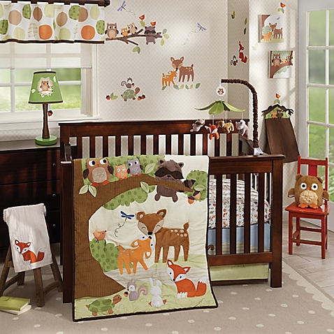 baby bedding sets image of lambs u0026 ivy® woodland tales crib bedding collection WQPCQUP
