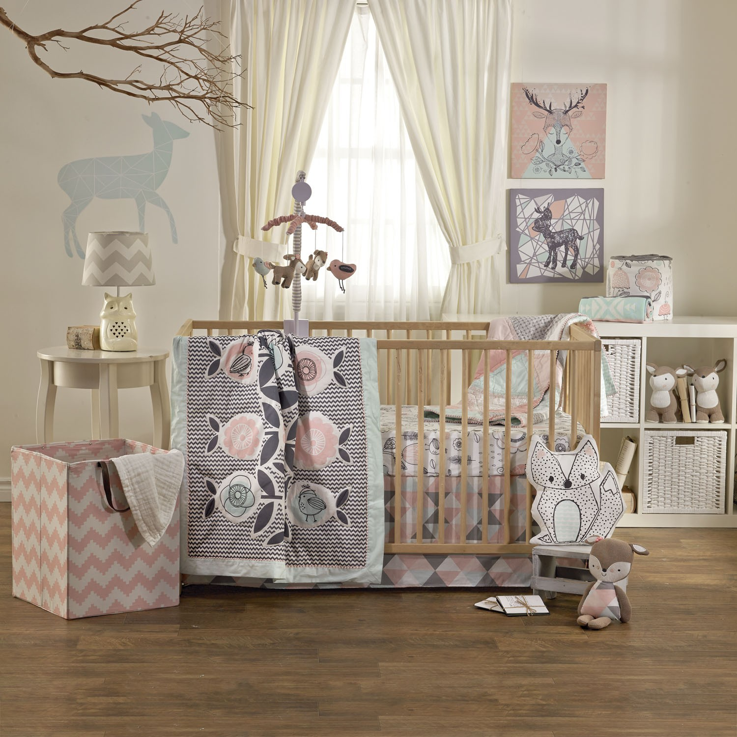 baby girl bedding lolli living 4 piece sparrow crib bedding set ZKNNCGK