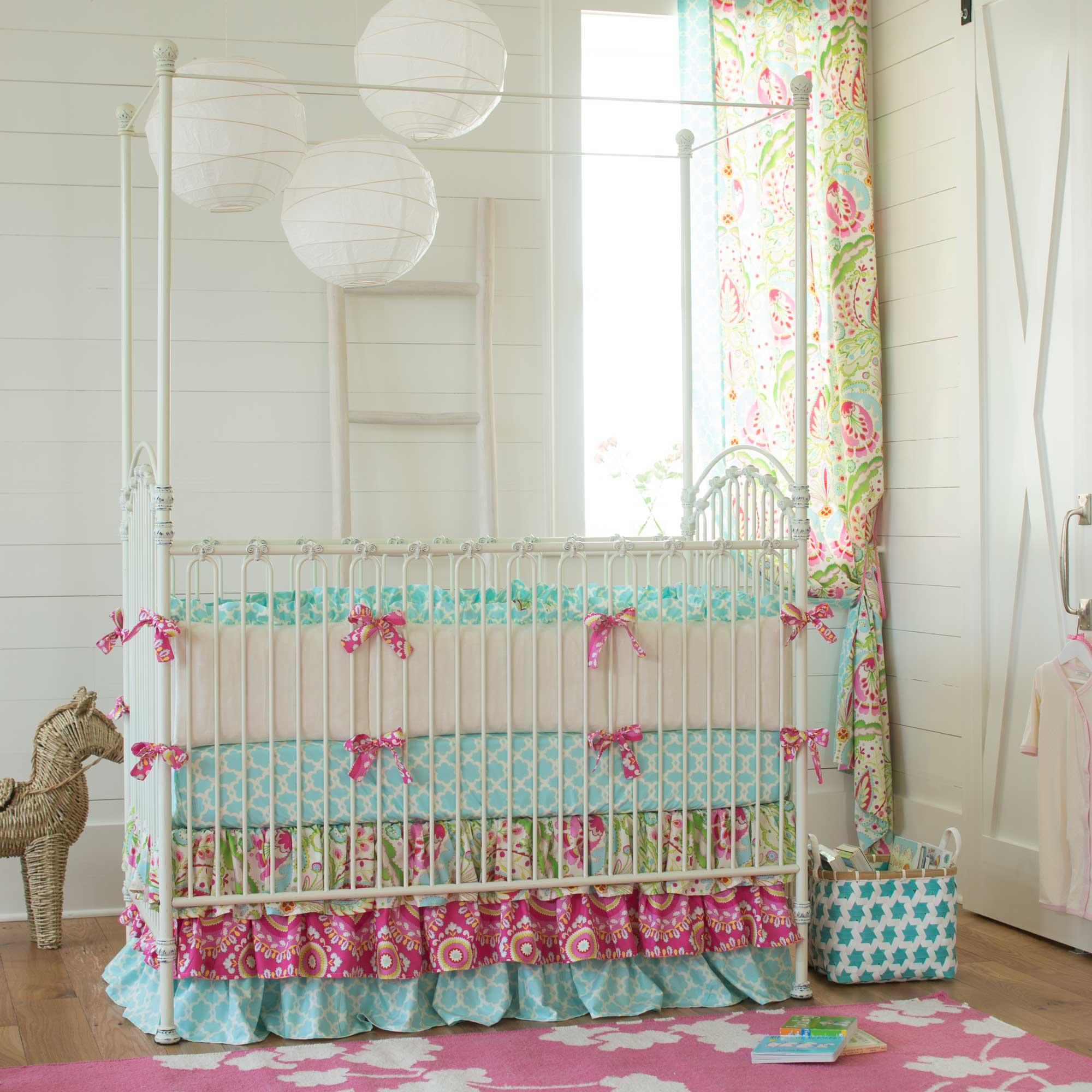 baby girl bedding love birds crib bedding · kumari garden crib bedding CTICEHV