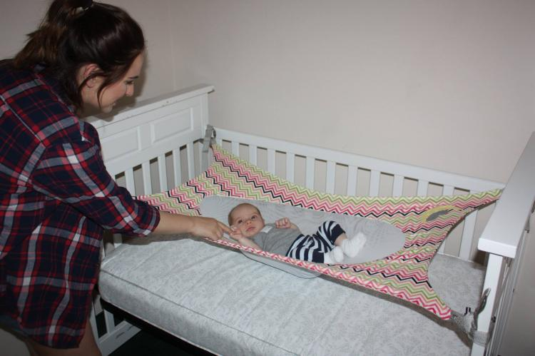 baby hammock crescent womb newborn crib hammock - newborn safety bed - reduces risk of TWKRGIL