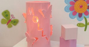 baby night light baby pink personalised butterfly night light BBXLZNI