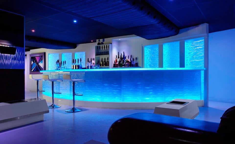 bar counter / glass / semicircular / illuminated - by paolo viera BSOVLYF