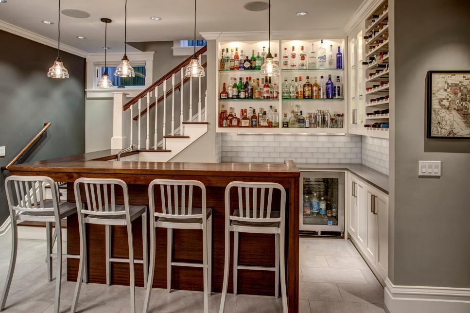 Some nice basement bar ideas