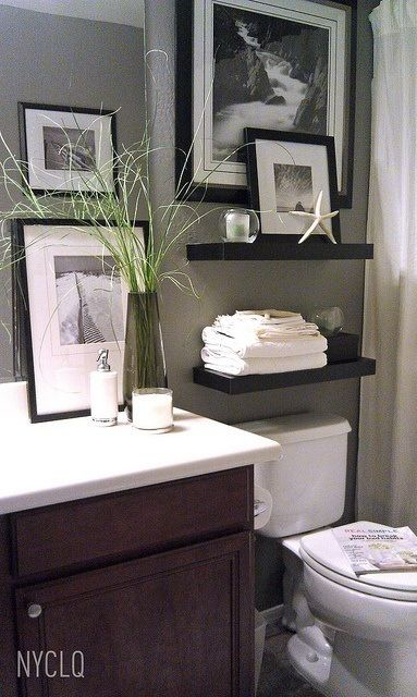 bathroom decor 3 tips: add style to a small bathroom EYMWMKF
