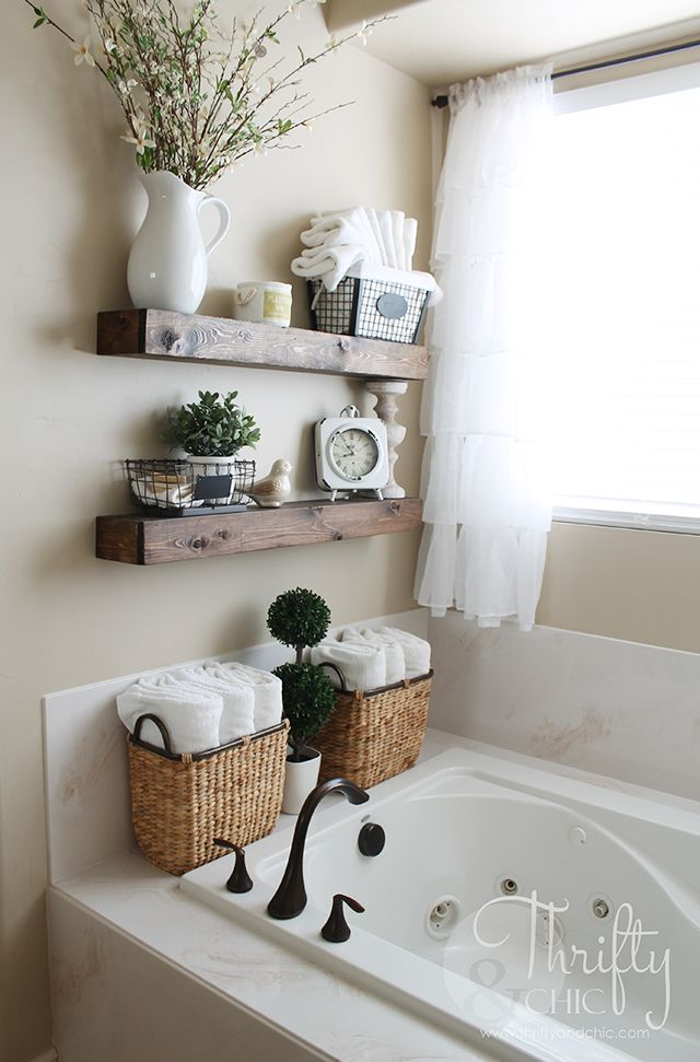 bathroom decor diy floating shelves and bathroom update YHHMFPW