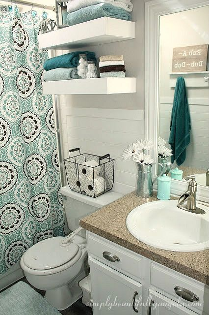bathroom decor simply beautiful by angela: bathroom makeover on a budget BYGEIQO