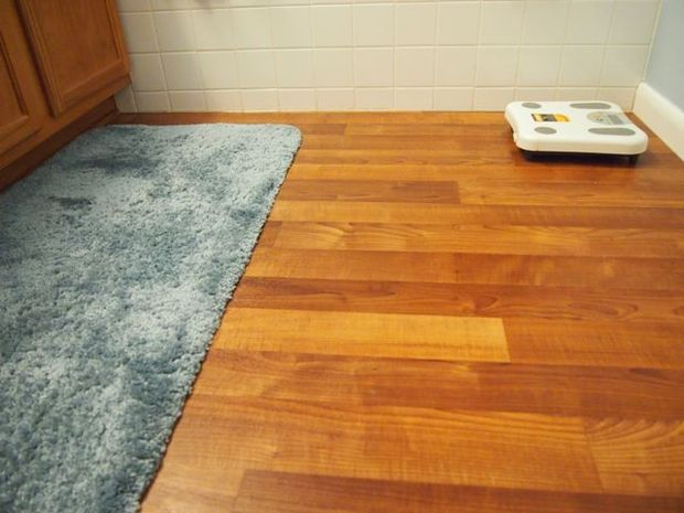 bathroom linoleum flooring replacement project JSPXCVC