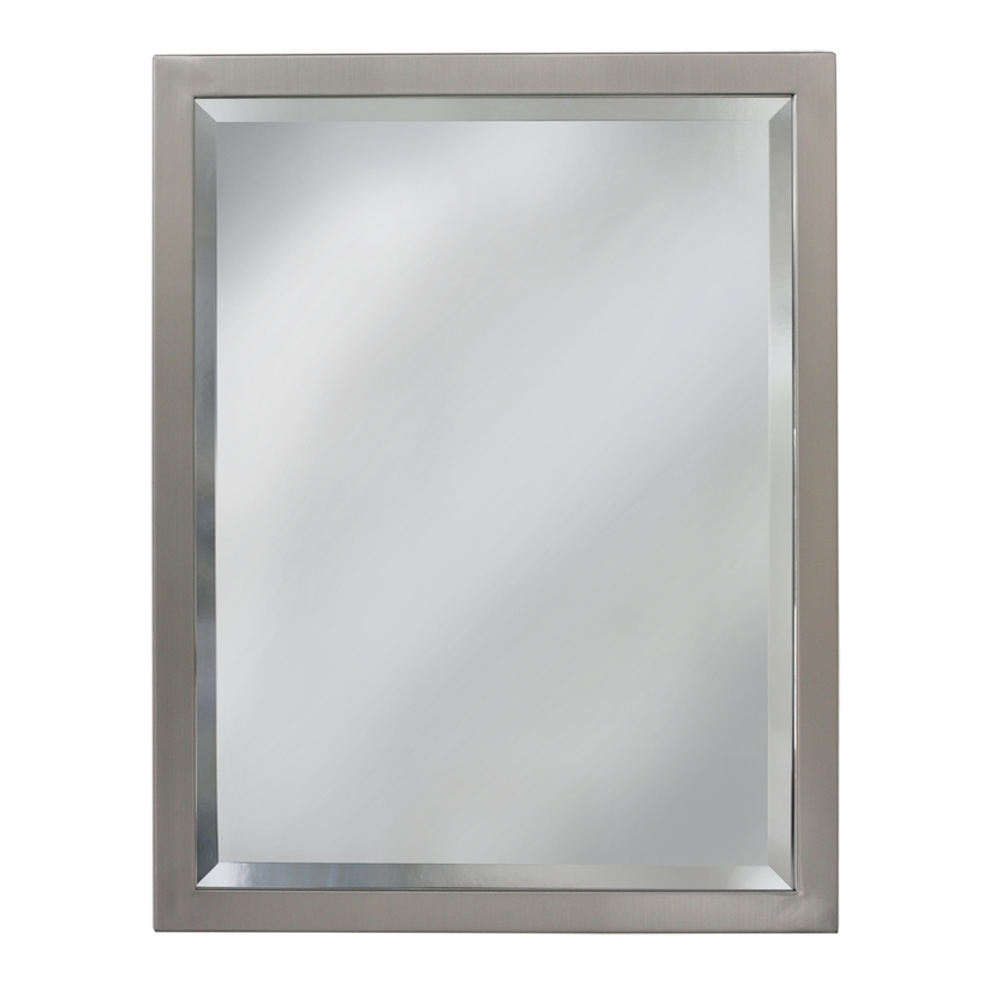 bathroom mirrors allen + roth 24-in w x 30-in h rectangular bathroom mirror UTZUJVC