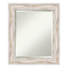 bathroom mirrors amanti art - bathroom mirror, medium, alexandria whitewash, 21 BGOZALQ