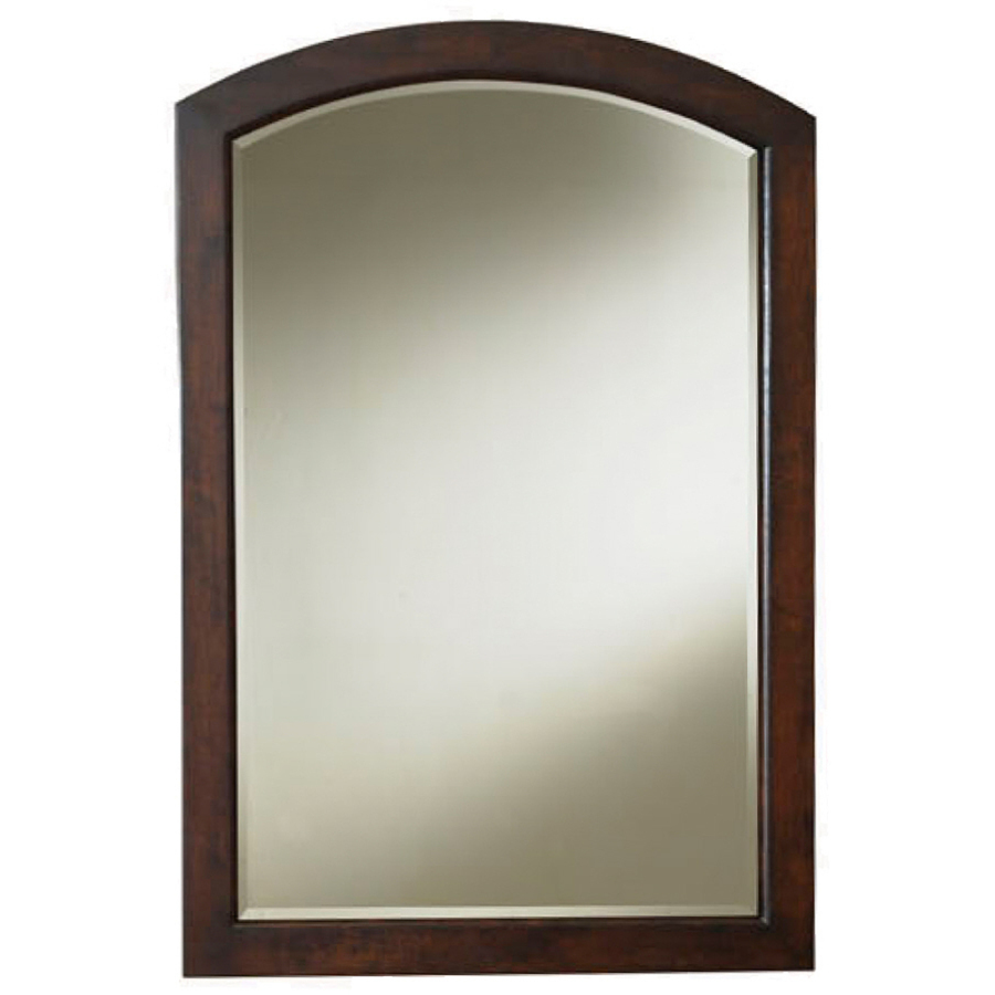 bathroom mirrors style selections morecott 22-in x 30-in chocolate arch framed bathroom  mirror HIYTHAV