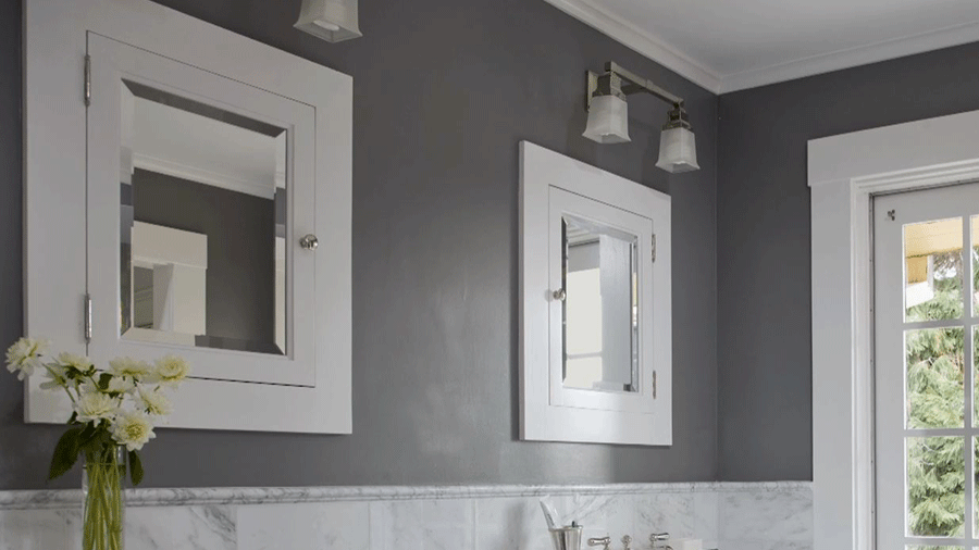 bathroom paint ideas clean white XWLRBAX