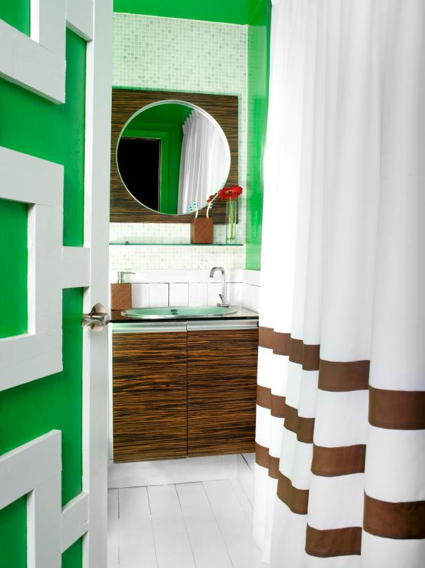 bathroom paint ideas kelly green bathroom with contemporary wood vanity PHYWUHM