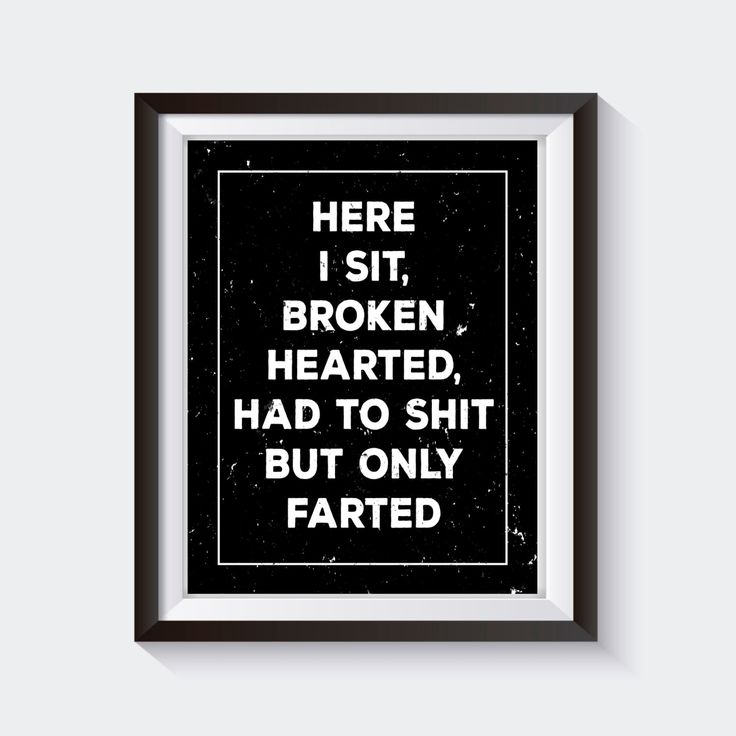 bathroom wall art here i sit broken hearted, funny bathroom print, funny bathroom art, funny SVWINJJ