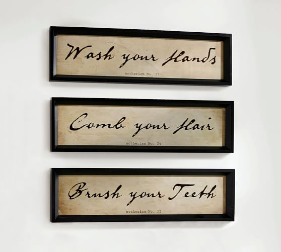 bathroom wall art, set of 3 IVWUJBD