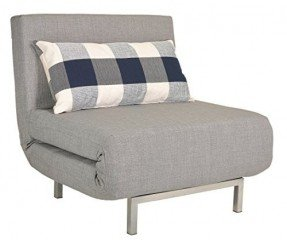 bed chair cortesi home savion convertible accent chair bed, grey JNDHLBN