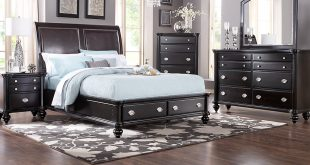 bed sets remington place espresso 5 pc king sleigh bedroom with storage LMEVDGC