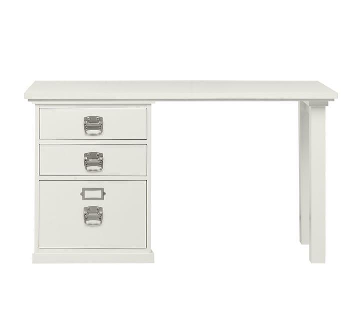 bedford small desk, antique white | pottery barn VOCBVUZ