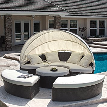 bellagio 4-piece outdoor daybed sectional set TBDTLMP