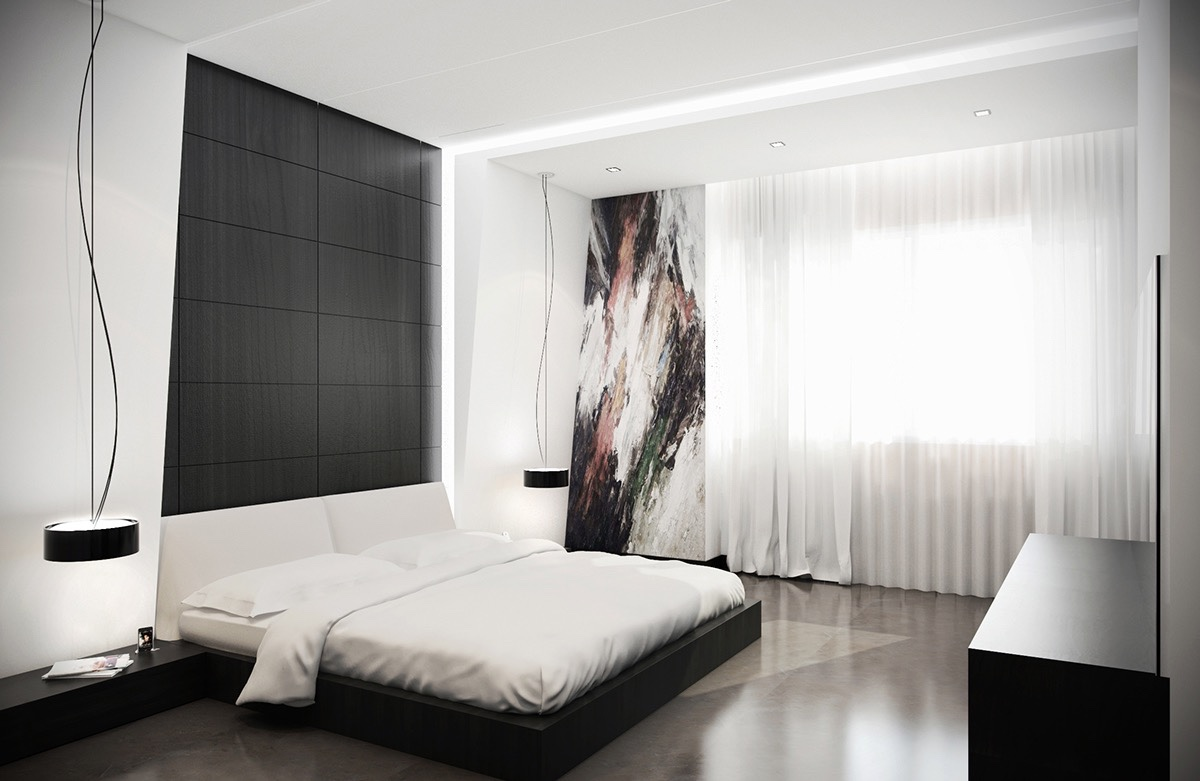 black and white bedroom 20 ... BIKEJNB