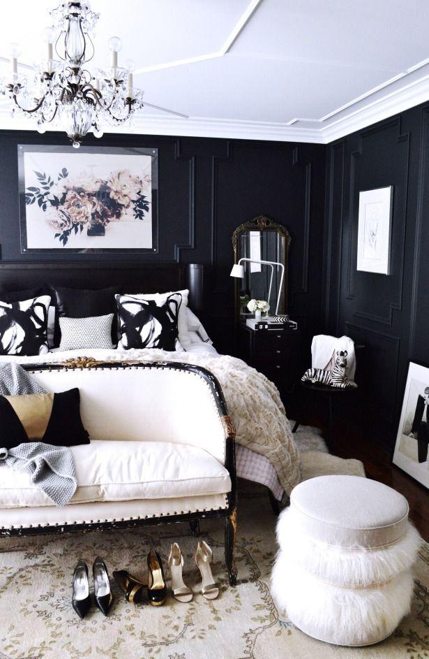 black and white bedroom best 25+ black white bedrooms ideas on pinterest | photo walls, black white WNJLNFX