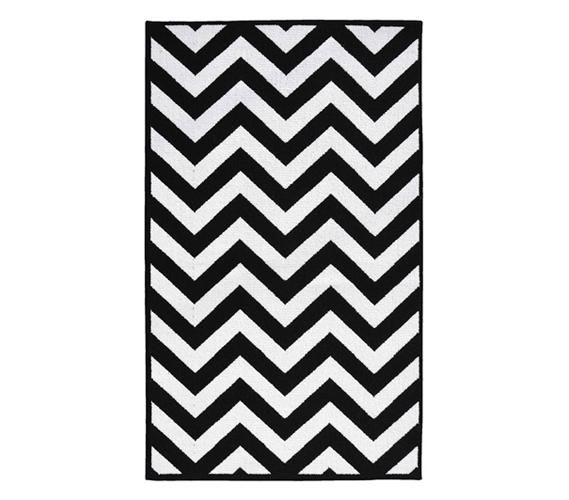 black and white rug chevron college rug - black and white EYOZFKN