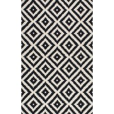 black and white rug climer hand-tufted black area rug OCPFJTD