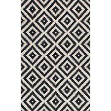 black and white rug climer hand-tufted black area rug OCPFJTD