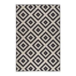 black and white rug lappljung ruta rug, low pile - 6 u0027 7  COUOFIN